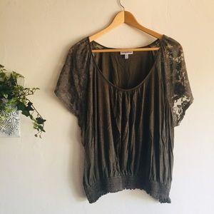 Fashion Bug • Lace Flutter Sleeve Blouse